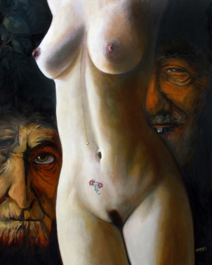 "Susanna and the Elders / Oil on Canvas / 30"" x 24"""