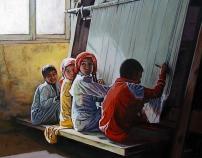 """Children of Egypt / Acrylics on Canvas / 24æ x 30"""""""
