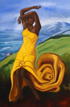 "Castas de Robles (la Tempestad) / Oil on Canvas / 36"" x 24"""