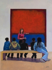 """The Art Lesson / Oil on Canvas / 40"""" x 30"""""""