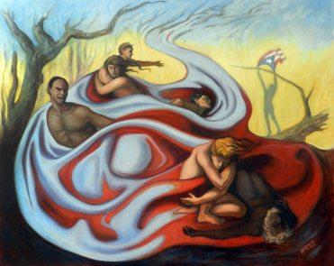 """Huracán María / Oil on Canvas / 22"""" x 28"""""""