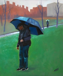 "Winter Rainy Day in Boston / Oil on Canvas / 24"" x 18"""