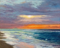 "Atardecer en Aguada / Oil on Canvas / 8"" x 10"""