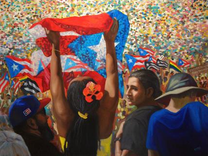"Despertamos / Oil on Canvas / 36"" x 48"""