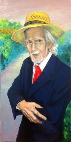 """Portrait of Félix Cordero / Oil on Canvas / 30"""" x 15"""""""