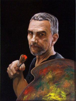 "Self Portrait / Oil on Canvas / 24"" x 18"""