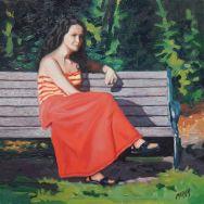 """Shakespeare's Garden / Oil on Canvas / 12"""" x 12"""""""