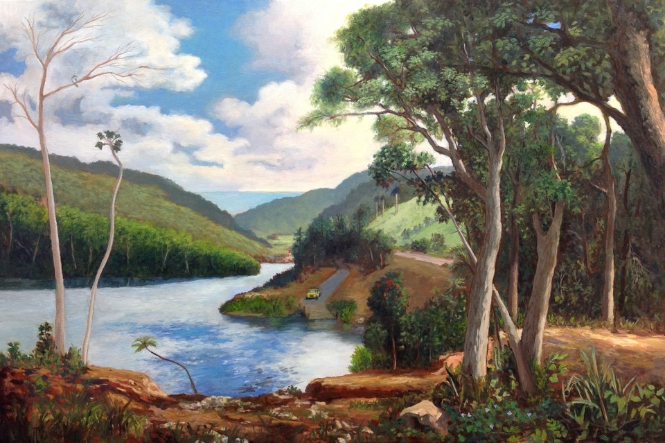 Imaginary landscape in Classical Style